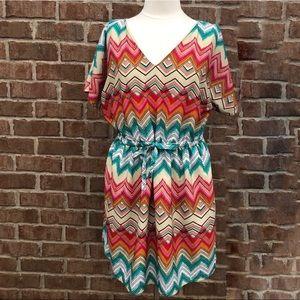 Lane Bryant Chevron Printed Short Sleeve Dress